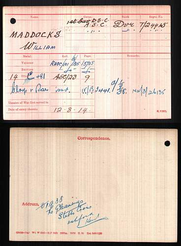 1914 Mons star 12th August 1914 disembarkation date