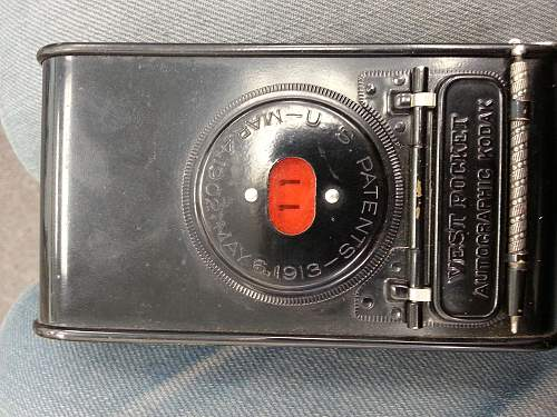 WW1 PERIOD KODAK VPK - with film still inside.