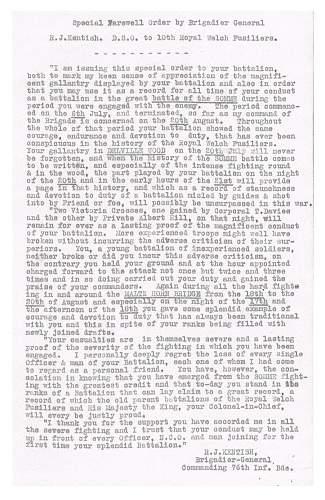 Grandads letter