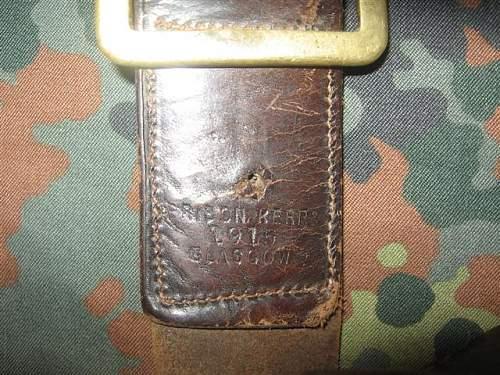 British 1915 dated Belt