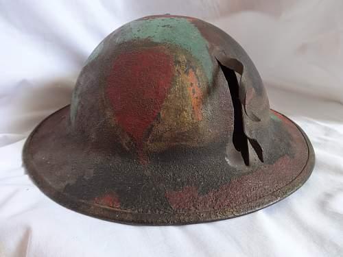 US camo battle damaged lid
