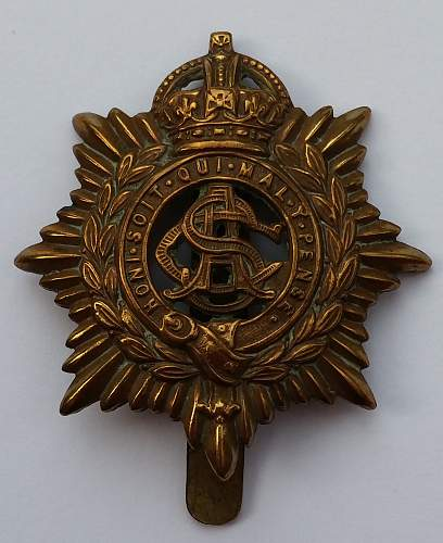 Army Service Corps cap badge and shoulder title