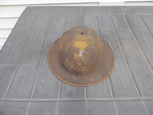 WWI 77TH Div. relic helmet.