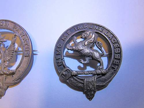 Small collection of 3 Scottish badges