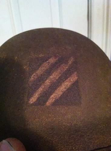 my us m1917 3rd id helmet