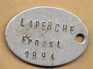 Help identifying ID Tags on a WW1 French Army Water Bottle.