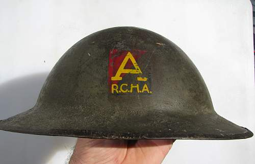 WWI Flashed RCHA Helmet