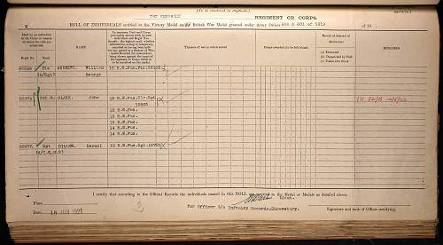 Click image for larger version.  Name:dillow, samuel sgt rwf medal roll vm and bwm.jpg Views:92 Size:291.4 KB ID:842651