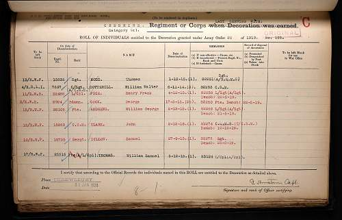 Click image for larger version.  Name:dillow, samuel sgt rwf star medal roll.jpg Views:144 Size:282.2 KB ID:842652