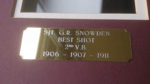 Soldiers Box to 185 Sergeant G R Snowden 1/5th Kings Own Royal Lancaster Regimnent
