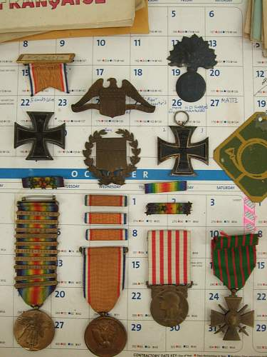 The trunk grouping of Sgt. Fred Kurth of the Reserve Mallet