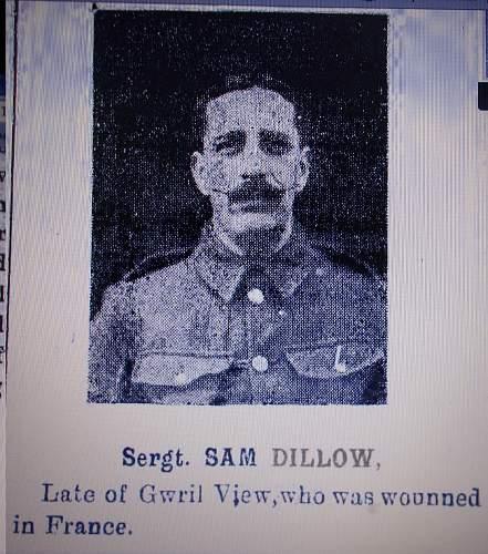 Sgt Samuel Dillow 15725 10th Bn RWF