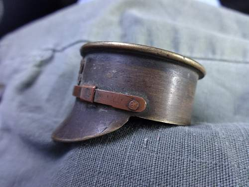 trench art brass cap
