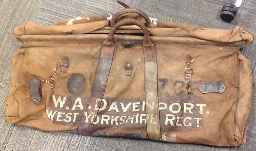 Attributed WW1 Officer's Travel Bag