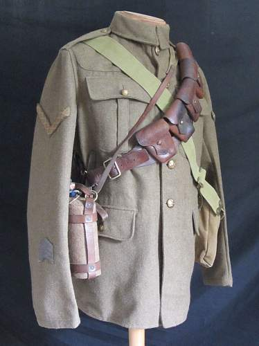 Ww1 british army cavalry troopers equipment on 02 service dress jacket