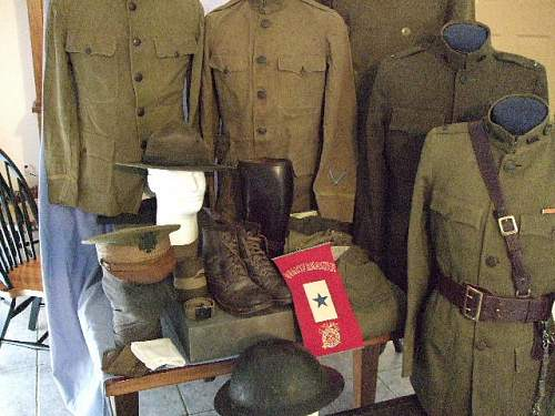 The two trunk-uniform grouping of Lewis C. Gilger; American Field Service SSU 69