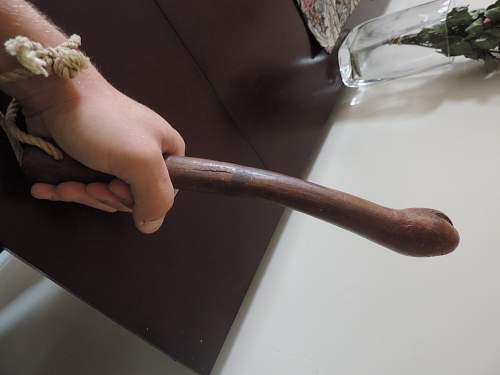 WW1 Hand Carved Trench Club