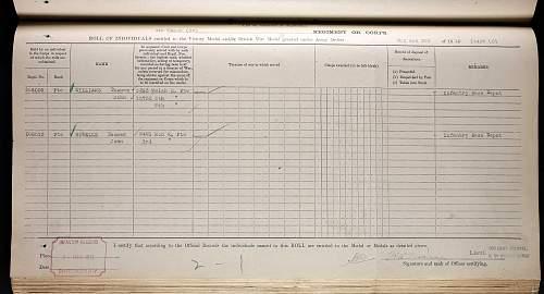 Click image for larger version.  Name:Williams, Thomas John, Welsh Regiment  medal roll.jpg Views:18 Size:325.8 KB ID:857794