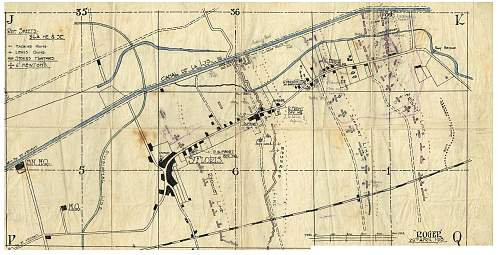 Battle of Lys original trench map