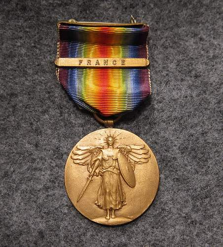 WW1 Victory Medal: France Clasp, S.G. Adams Stamp and Stationery Co.