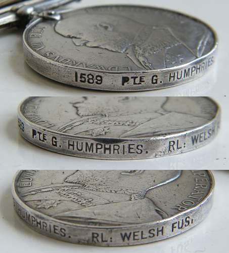 Click image for larger version.  Name:humphries G 1st rwf kings sa medal 3.jpg Views:416 Size:239.6 KB ID:873517