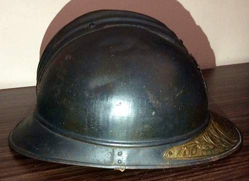 M15 Adrian Engineers Helmet with brass memorial plaque