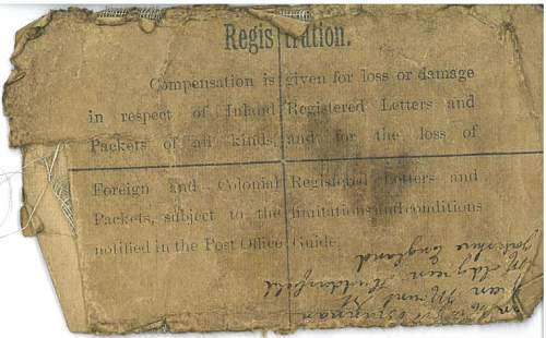 Registered Letter to Soldier in 2nd Army Headquarters