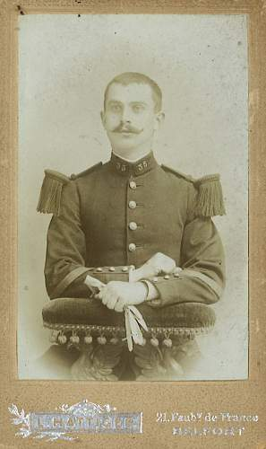 French Army photo of relative pre-war