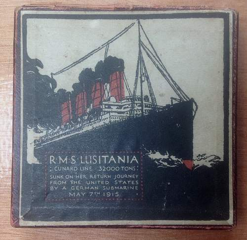 Click image for larger version.  Name:British Lusitania medal.jpg Views:36 Size:218.5 KB ID:884460
