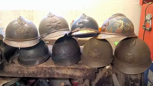 A few Adrian helmets