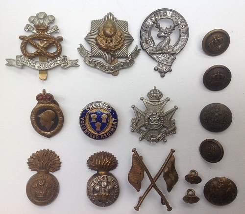 WW1 British cap badges