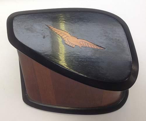 RFC / RNAS Trench Art wooden box