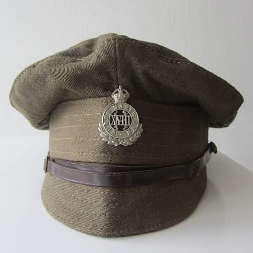 1918 british army gabardine trench cap, 18th hussars