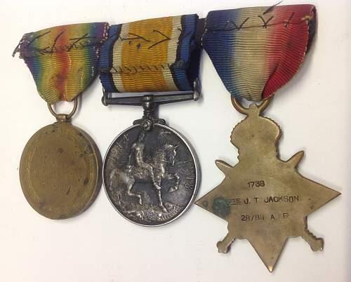 WW1 Aussie medal group ; 28th Battl AIF