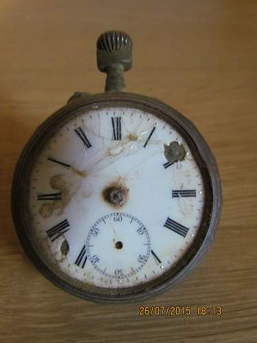 Old pocket watch from the Somme area.