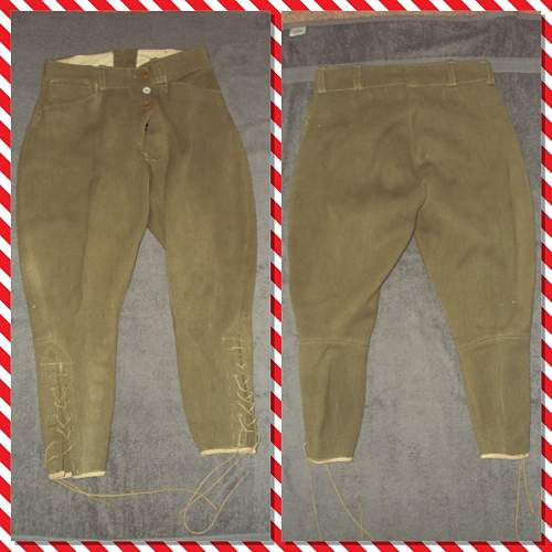 Ww1 british officers trousers??