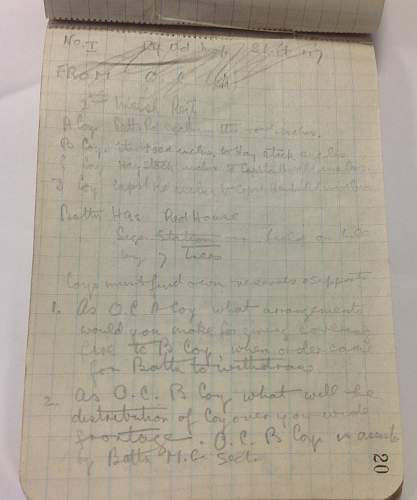 World War One Field Message Book named to Somme Casualty