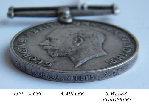 Alfred Miller 1351 South Wales Borderers War Medal