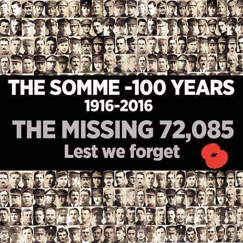100th anniversary of the battle of the Somme