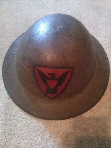 WW1 British helmet, US 86th Painted?
