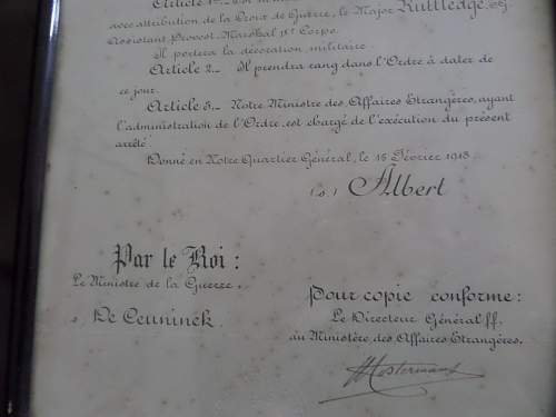 Help needed with Belgium medal paperwork to British ww1 Soldier