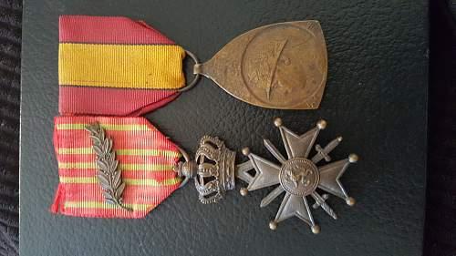 WW1 Belgian medals