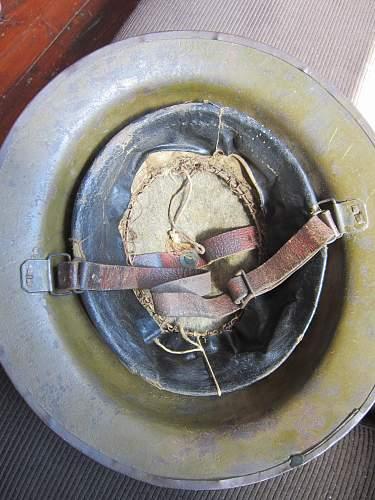British WW1 BURYS Brodie helmet