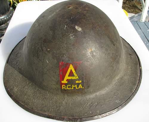 WW1 Canadian CEF MKI Brodie  Helmet 10th Battalion