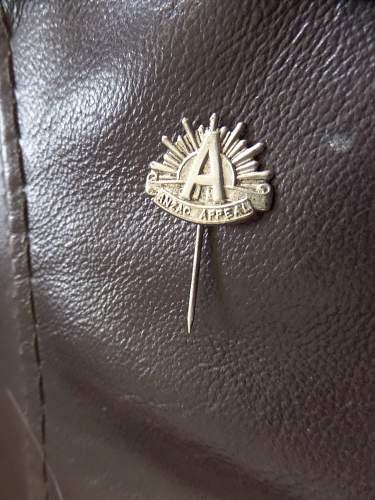 ww1 Anzac Appeal badge