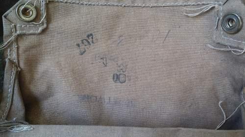 WWI British SBR and Gasmask Bag