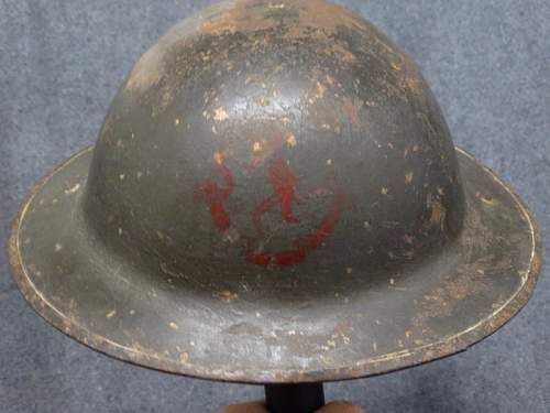 Ww1 canadian 8th battalion helmet check