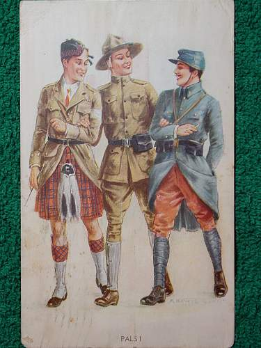WWI period postcards