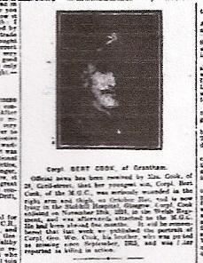Bert Cook, MG copr & Welsh Reiment