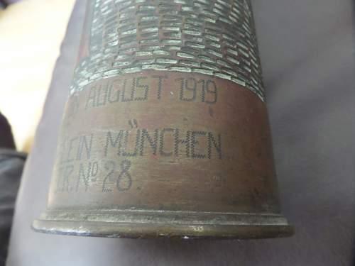Interesting piece of POW trench art